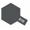 X-10 Gun metal (Пушечный металл) краска эмалевая глянцевая 10 мл