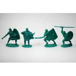 """""""Римские легионеры, набор 2 """". Полный комплект, 4 фигур в 4 позах."""