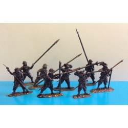 30-year-old war. The army of the Swedish king Gustavus Adolphus. Infantry, 40 mm, zamak