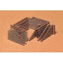 1/35 Набор фрагментов кирпичных стен, 4 вида для диорам WWII