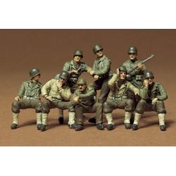 1/35 U.S. Combat Group Американская штурмовая группа на отдыхе, восемь фигур WWII