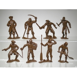 Caribbean pirates, a set of 8 figures (65 mm)