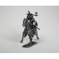 Equestrian Knight with an ax, 40mm, pewter (1893)
