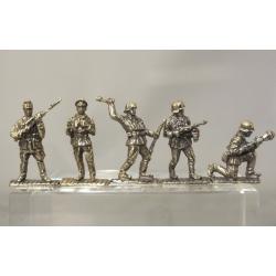 Великая Отечественная Война, Немцы (5 шт.), латунь