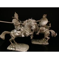 Диорама: поединок Челубея и Пересвета, Куликовская битва, 1380 г (TH-4050)