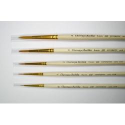 """Кисть """"Черная речка"""" синтетика, круглая №3, короткая ручка"""