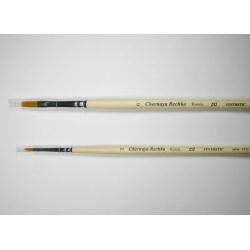 """Кисть """"Черная речка"""" синтетика, плоская, мягкая, удлиненная №2, длинная  ручка"""
