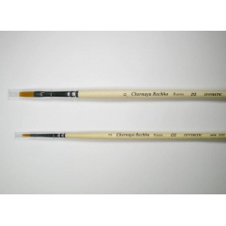 """Кисть """"Черная речка"""" синтетика, плоская, мягкая, удлиненная №6, длинная  ручка"""