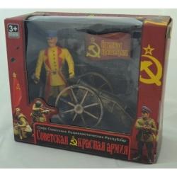 """Игровой набор """"Красная армия"""" (солдат+пушка)"""