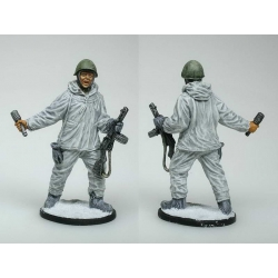 Submachine Red Army infantry in winter camouflage, 1941-45., USSR (painted)