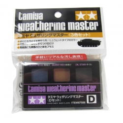 Weathering Master D Set - Burnt Blue, Red, Oil Stain (87088)