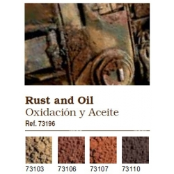 Vallejo. Набор сухих пигментов - Ржавчина и нефть / RUST AND OIL (73196)