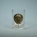 "Glass ""Emblem of USSR"" (1 pc.) 95936)"