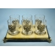 """Stand with wine glasses """"Emblem of the Russian Federation"""" (23402)"""