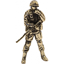 """Soldier SHAH, """"Friendly people"""", brass (PPL-08)"""