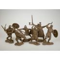 Anglo-Saxons, dark brown, 6 figures (PTSPL-023)
