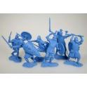 Anglo-Saxons, light blue, 6 figures (PTSPL-023)