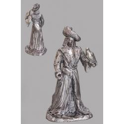 Знатный горожанин 15 века с соколом в руке