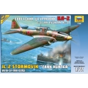 WWII Soviet IL-2 ground attack aircraft with 37mm gun NS-37 (7286)