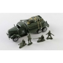 "Inertia Truck ""Military"" with a tank and soldiers 19 * 7 * 6 cm (1495356)"