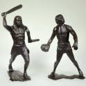Cave people.Two figures. Set No. 2 (High 15 cm). Dark brown (80011)