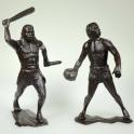 Пещерные люди, набор №2 из 2 фигур (150 мм). Темно-коричневые (80011)
