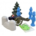 Set: game soldiers and a cannon with shells (S-143-F)