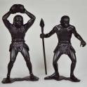 Cave people.Two figures. Set No. 3 (High 15 cm). Dark brown (80012)
