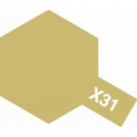 X-31 Titanium Gold ( Металлик: титановая золотистая) краска эмалевая глянцевая 10 мл