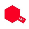 X-27 Clear Red (Прозрачная красная) краска эмалевая глянцевая 10 мл