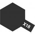 X-18 Semi Gloss Black (Полуматовая черная) краска эмалевая глянцевая 10 мл