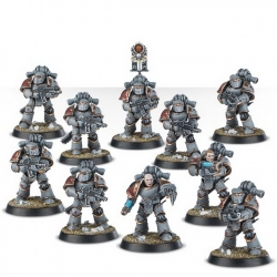 Veteran Tactical Space Marines in MkIII Iron Power Armour (HH2-60-5)