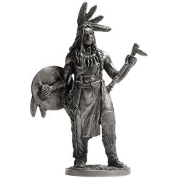 Индеец со щитом и томагавком (WW-15)