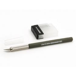 Дизайнерский нож с 25 доп. лезвиями, тускло-оливковая ручка (89983)