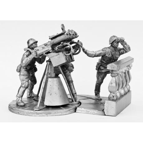 Расчет зенитного пулемета Максим. Москва, 1941 г. (581)