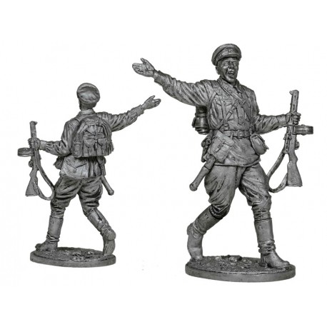 Старший сержант пехоты РККА. СССР, 1941-43 гг. (ww2-31)