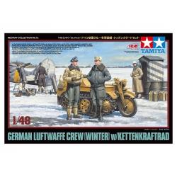 1/48 Нем. офицеры и солдаты Luftwaffe с Kettenkraf (32412)