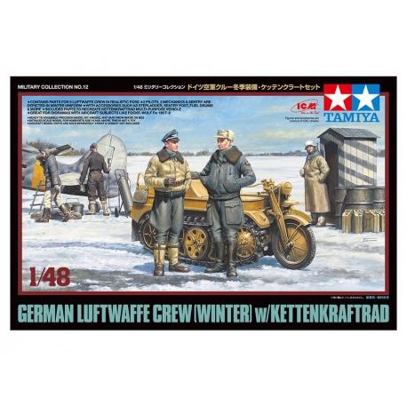 German Luftwaffe Crew (Winter) w/Kettenkraftrad (32412)