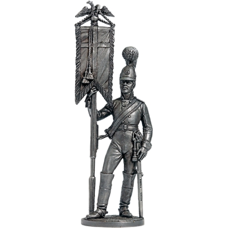 Estandart-cadet with the standard of the Horse Guards. Russia, 1805-08 (NAP-68)