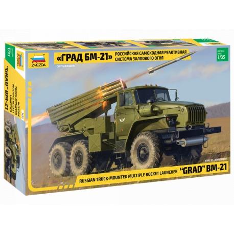 Russian truck-mounted multiple rocket launcher GRAD BM-21 (3655)