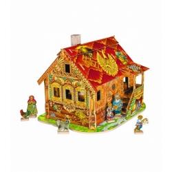Красная изба (сборный домик с героями) (206-02)