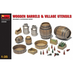 1:35 WOODEN BARRELS & VILLAGE UTENSILS (35550)