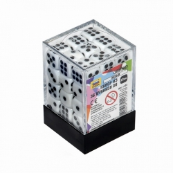 Set of 36 cubes D6 (white) 1133