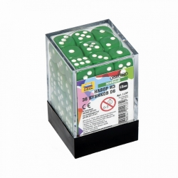 Set of 36 cubes D6 (green) 1137