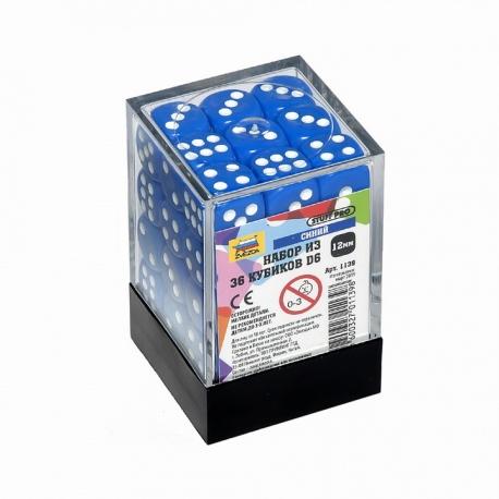 Набор из 36 кубиков D6 (синий) 1139