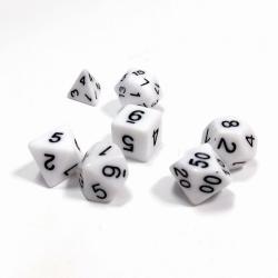Набор из 7 кубиков для ролевых игр (белый) 1141