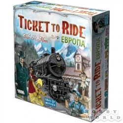 Board game: Ticket to Ride: Europe (3rd Russian ed.), Ref. 1032