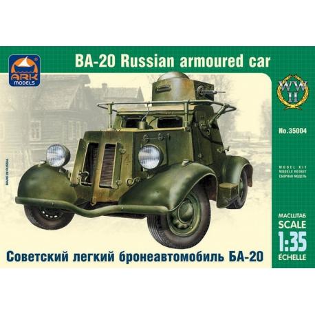 Soviet light armored car BA-20 (35004)
