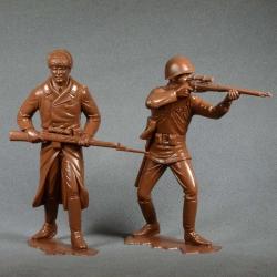 Красная армия, набор №1 (2 фигуры 150 мм, светло-коричневые) (80004)