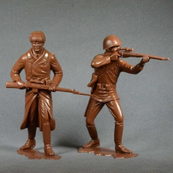 Red Army, set No. 1 (2 pieces 150 mm, light brown) (80004)